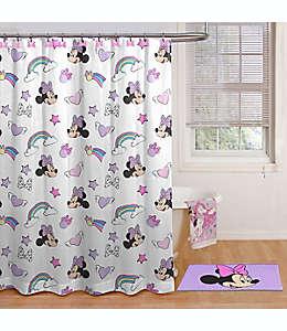 Set de ganchos y cortina de baño de microfibra Disney® Minnie Mouse color rosa