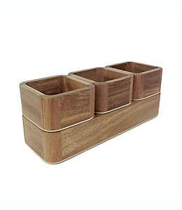 Set de organizadores de madera Haven™ apilables, 4 piezas