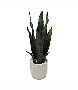 Planta artificial Lengua de víbora Elements™ con maceta de cerámica