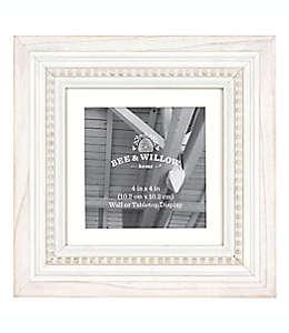 Portarretratos de madera Bee & Willow™ Home color blanco