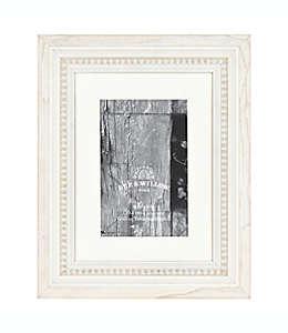 Portarretratos con borde perlado Bee & Willow™ Home color blanco