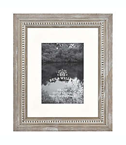 Portarretratos con borde perlado Bee & Willow™ Home color gris