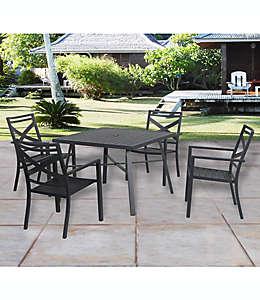 Silla de acero W Home™ Stonington color negro
