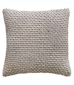 Cojín decorativo de algodón texturizado color gris