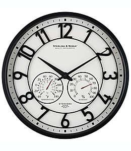 Reloj de plástico Sterling & Noble™ para exteriores color negro satinado