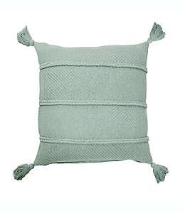 Cojín decorativo de algodón Bee & Willow™ Home color azul niebla