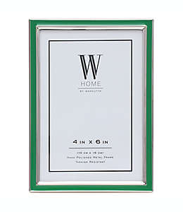 Portarretratos con marco de metal W Home™ color verde