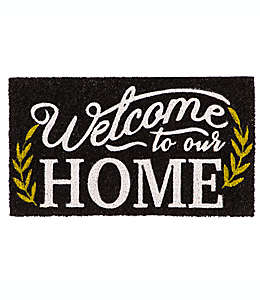 "Tapete para entrada Evergreen ""Welcome To Our Home"""