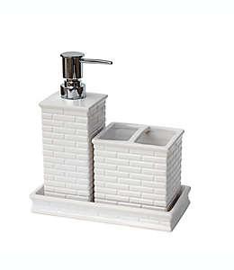 Set de accesorios para baño de cerámica Lifestyle Home Bleeker color blanco, 3 piezas