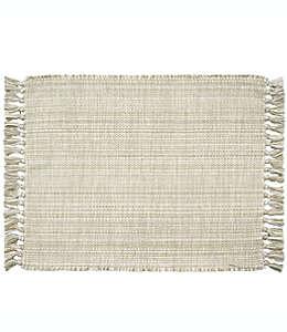 Manteles individuales de algodón con flequillos Bee & Willow™ Home color arena, Set de 4
