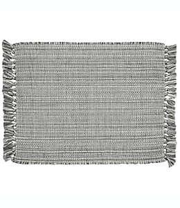 Manteles individuales de algodón con flequillos Bee & Willow™ Home color gris, Set de 4
