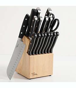 Juego de cuchillos Our Table™ con triple remache y base, 18 piezas