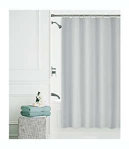 Set de cortina de baño de poliéster Smart Clean color plata