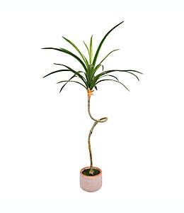 Planta de maguey artificial Wild Sage™ con maceta de cemento