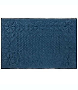 Tapete texturizado de poliéster Bee & Willow™ Home de 50.8 x 86.36 cm color azul mezclilla