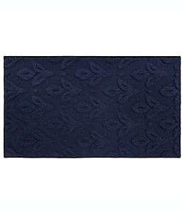 Tapete texturizado de poliéster Bee & Willow™ Home Tasha de 50.8 x 86.36 cm color azul marino