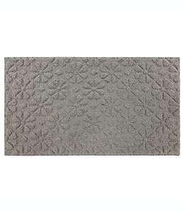 Tapete texturizado de poliéster Bee & Willow™ Home Suzette de 50.8 x 86.36 cm color gris