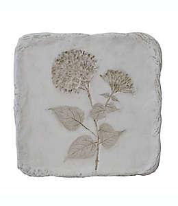 Cuadro decorativo de resina con diseño botánico Bee & Willow™ Wild Poppy color blanco