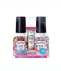 Desodorante en aerosol para baño de aceites esenciales naturales Poo-Pourri® Before-You-Go® aroma primavera, Set de 3 pzas.
