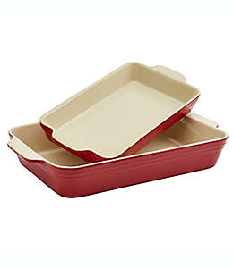 Refractarios de cerámica Our Table™ rectangulares color rojo