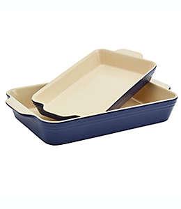 Refractarios de cerámica Our Table™ rectangulares color azul