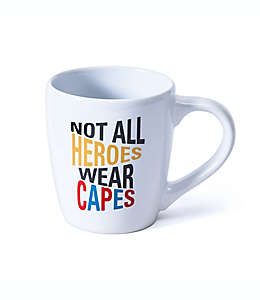 """Taza GiftCraft """"Not All Heroes Wear Capes"""" color blanco"""