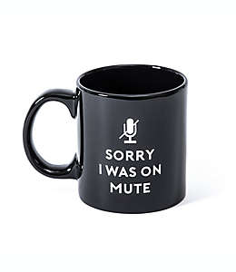 """Taza Giftcraft """"Sorry I Was On Mute"""" color negro"""
