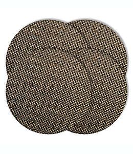 Mantel individual redondo de vinilo Bistro color ceniza
