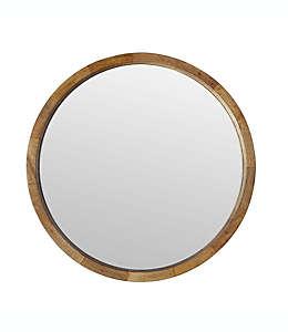Espejo decorativo redondo W Home acabado en madera natural