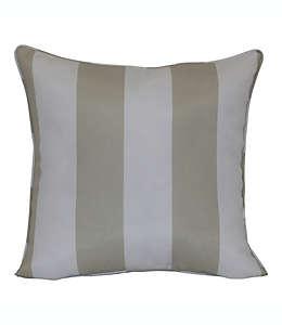 Cojín decorativo de poliéster bolster W Home™ Cabana color café bronceado/blanco