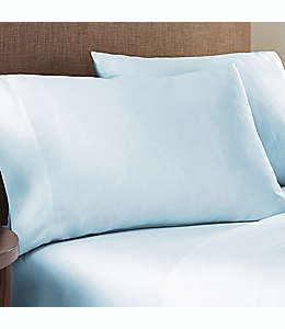 Fundas estándar de algodón para almohadas Nestwell™ color azul ilusión, Set de 2