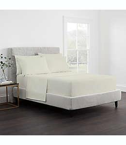 Set de sábanas individuales de algodón satinado Claritin® Allergen Barrier color arena