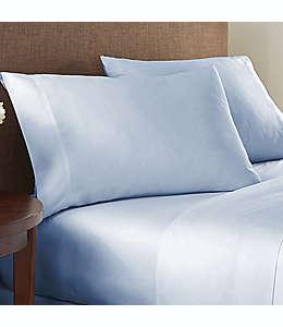Set de sábanas queen de algodón NestWell™ de 180 hilos color azul neblina