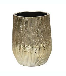 Bote de basura de cerámica Lifestyle Home color champaña
