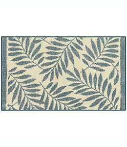 Tapete decorativo de poliéster Maples™ Josias de 50.8 x 86.36 cm color azul