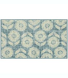 Tapete decorativo de poliéster Maples™ Hughe de 50.8 x 86.36 cm color azul claro