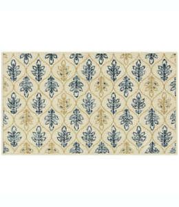 Tapete decorativo de poliéster Maples™ Winifred de 50.8 x 86.36 cm color azul/café bronceado
