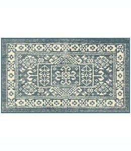 Tapete decorativo de poliéster Maples™ Ester de 50.8 x 86.36 cm color azul/gris