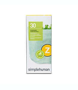 Bolsas compostables de polipropileno simplehuman®