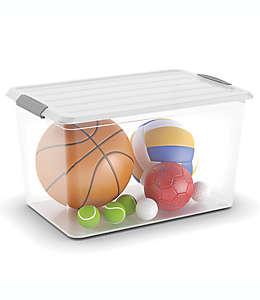 Contenedor de plástico Simply Essential™ Latch Mates con tapa, transparente de 58.2 L