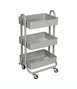 Carrito organizador de metal Squared Away™ color gris