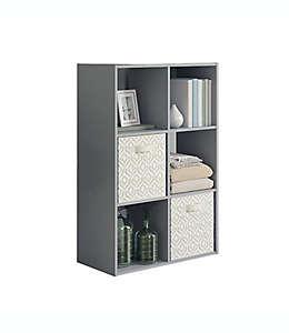 Organizador Simply Essential™ de 6 compartimentos color gris