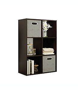 Organizador Simply Essential™ de 6 compartimentos color espresso