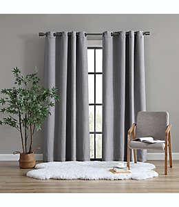 Cortina blackout de poliéster UGG® Devon de 2.13 m color gris carbón