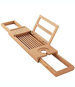 Organizador de madera de teca para tina de baño Haven™