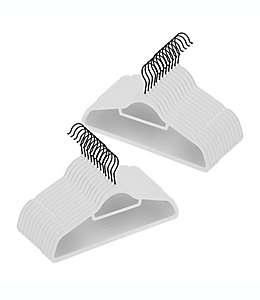 Ganchos de plástico ABS para trajes Squared Away™ color negro/blanco