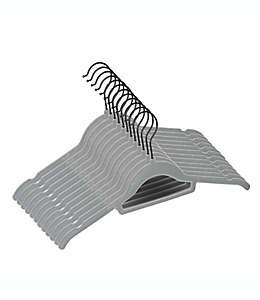 Ganchos de plástico ABS para camisa Squared Away™ color gris