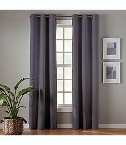Cortinas blackout de poliéster Simply Essential™ Robinson de 2.13 m color gris carbón