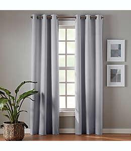 Cortinas blackout de poliéster Simply Essential™ Robinson de 2.13 m color gris claro