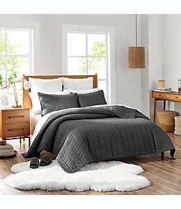Set de colcha king de algodón UGG® Dawn color gris carbón